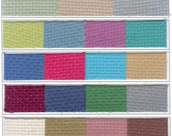 """Monks Cloth Fabric By The Yard 60"""" 100% Cotton 4x4 Weave/8 Count (27 Colors)"""