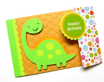 Cute Dinosaur Birthday Card - Kid Birthday Card - Boy Birthday Card - Nephew Birthday Card - Birthday Card for Him - Cricut Card