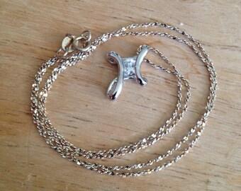 A - Vintage Sterling Silver Necklace - Vintage Sterling Silver Necklace Pendant -Sterlling Silver Pendant Necklace -Sterling Silver Necklace
