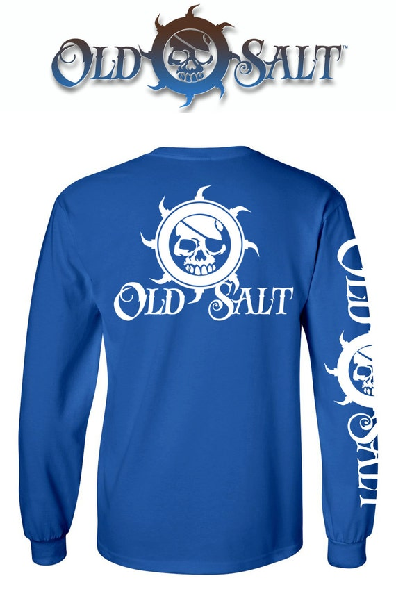 Old salt brand saltwater fishing surfing diving beach ocean t for Fishing t shirts brands