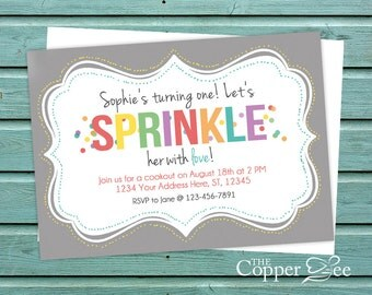 Sprinkled with Love // Sprinkle Birthday Party // Confetti Birthday Party