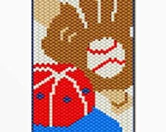 Baseball Fan  bead banner pattern