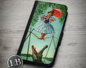iPhone Wallet Case - Haunted Mansion Stretching Room Painting 001 - Tightrope 4, 4s, 5, 5s, 5c, 6, 6s, 6 Plus Wallet Case Cover - id: 33001
