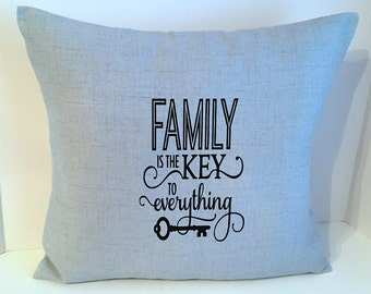 18 x 18 Light Blue Quote Envelope Style Pillow Cover