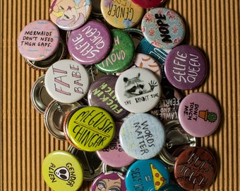 Mystery Pinback Button 10-Pack
