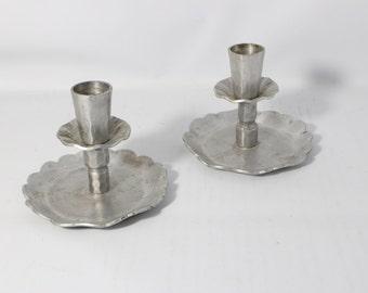 Vintage Everlast Hand Forged Aluminum Candle Holders
