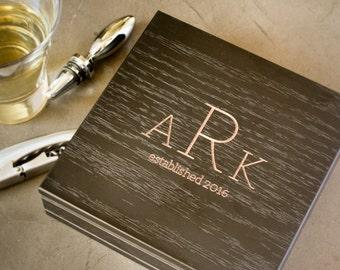 Custom Corkscrew Set, Personalized Black Box, Engraved Waiters Corkscrew Set: Wine Lover Gift, Anniversary for Men, Valentines Gift for Him