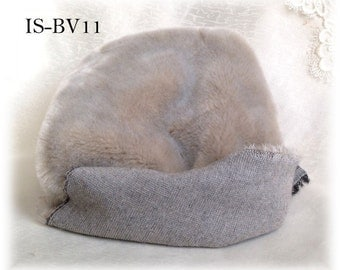 Italian SYNTHETIC fur plush fabric IS-BV11 GREY soft dense pile 9 mm 1/8 m teddy bear making supplies