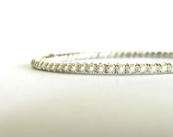 White Pearl Bracelet; June Birthstone; Wedding, Bride, Bridesmaid Bracelet