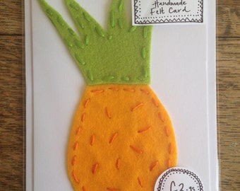 Handmade pineapple felt card