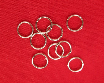 "400pc of 10mm ""jump rings"" in silver style (JC98)"