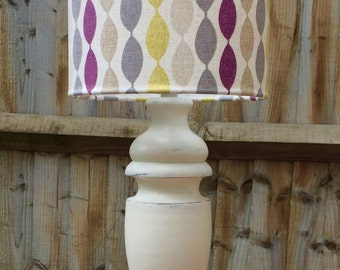 Sophie: painted lamp with geometric shade
