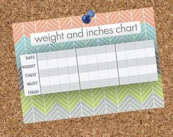 Printable Weight Loss Chart//8.5x11 AND 5x7