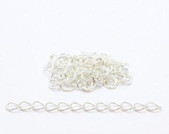 extension chains 5 Silver 50mm x - chains of settings per batch of 5 units