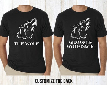 Wolfpack bachelor party shirts, bachelor party shirts, groomsmen shirts, Groomsmen gift, groom shirt, best man shirt