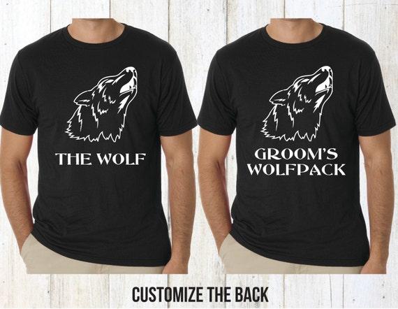Individual Groom's Wolfpack Bachelor Party Shirt Custom Grooms Wolfpack