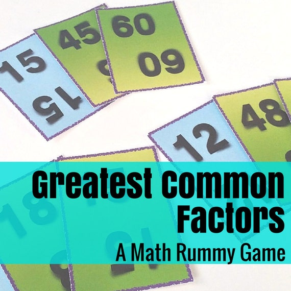 Greatest Common Factor Rummy Math Game