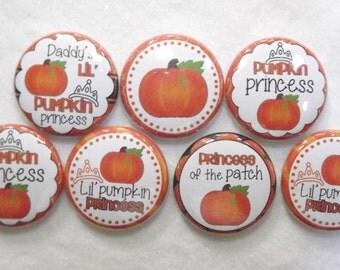 """Cute Pumpkin Halloween  1"""" Round  Buttons"""