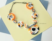 BB-8 Necklace, Star Wars Jewelry, The Force Awakens Necklace, Statement Necklace, Movie Jewelry, BB-8 Perler, BB-8 8 Bit, Star Wars Necklace