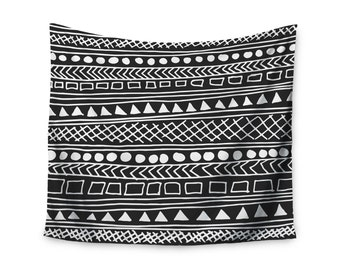 """Wall Tapestry - Black White Fimbis """"Redefined BW"""" FF1014A Great Gift Idea!"""