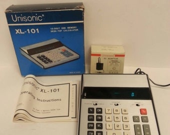 Free Shipping!! Unisonic XL-101 Desk-Top Calculator WORKS