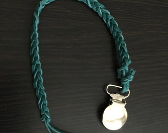 Turquoise Pacifier Clip
