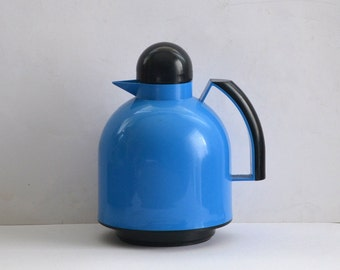 Pichet large blue and black vintage thermos GUZZINI