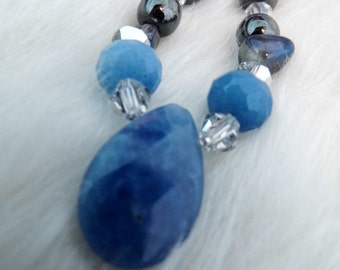 Blue Tear Necklace