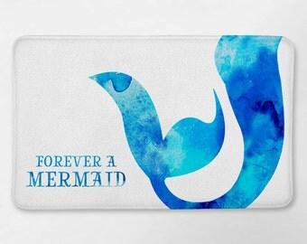 Mermaid Bathroom Decor, Mermaid Bath Mat, Mermaid Bathroom, Funny Bath Mat, Mermaid Life, Dorm Bathroom, Mermaid Bath Rug, Forever a Mermaid