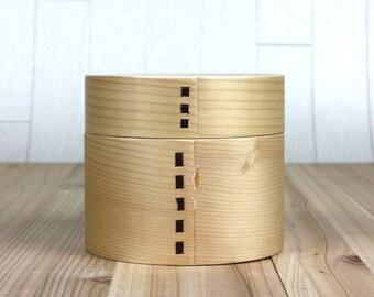 Japanese Bento Lunch Box Magewappa Lacquer box Natural Wood