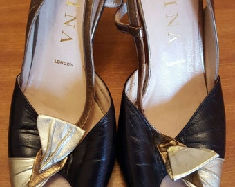 Classic evening burlesque show girl shoes by Gina size 5.5