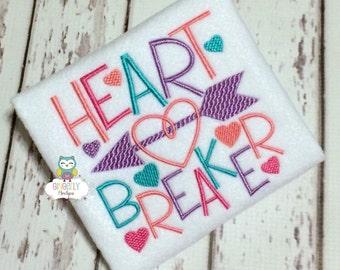 Heart Breaker Shirt or Bodysuit, Girl Valentine Shirt, Girl Heart Breaker Shirt, Heart Breaker Valentine Shirt