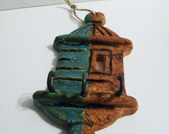 Wall key holder. La garita del Morro - key hooks - colonial wall keyholder - jewelry holder