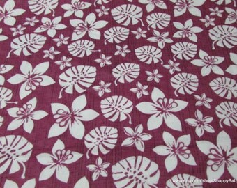 Flannel Fabric - Simple Botanical Berry - 1 yard - 100% Cotton Flannel