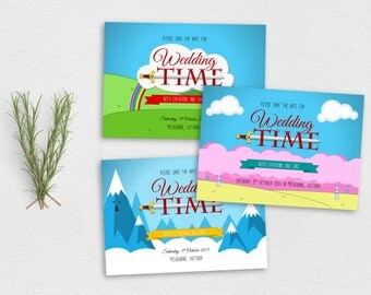 Adventure Time Save the Date and Birthday Invitation - PDF Printable Instant Download