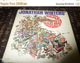 Save 25% Today Vintage 1964 Vinyl LP  Record Jonathan Winters It's A Mad Mad Mad Mad World Excellent Condition Verve Records V-15041