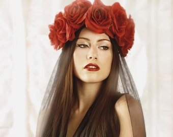 Flowercrown red roses