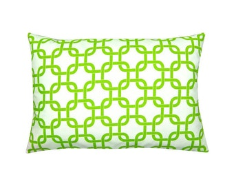 White Green pillowcase GOTCHA graphically 40 x 60 cm chain pattern
