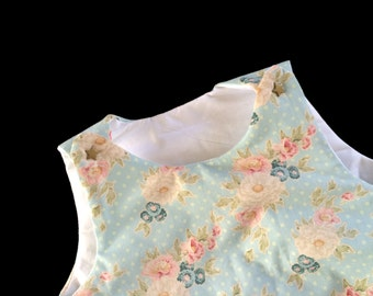 Sleeping bag cotton garden blue flowery English 0 / 6 m