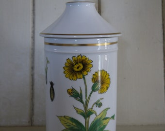 French Vintage Apothecary Jar - Limoge Pottery