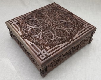 Jewelry Box - carved oriental ornaments and motifs