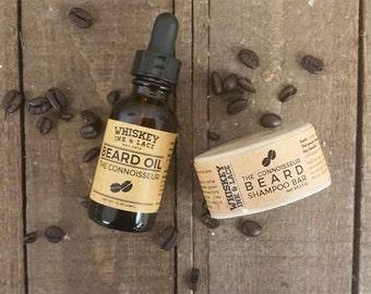The Connoisseur BASIC Beard Kit, Coffee & Cocoa Beard Oil, Starter Kit for Beards, Beard Starter Kit, Beard Oil Kit, Beard Oil and Shampoo