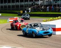 Motor racing photo, Motorsport Goodwood Revival fine art photograph
