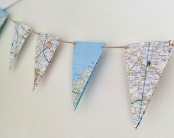 Bunting Garland UK Road Map Travel Party 6.5ft (2m)