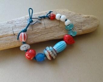 Summer Flight - Bracelet, Artisan, Casual, Cheerful, Summer