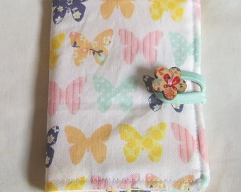 Card Holder, Credit Card Wallet, Oyster Card Holder, Bus Pass Holder, Travel Card Holder, Business Card Wallet, Butterfly fabric,