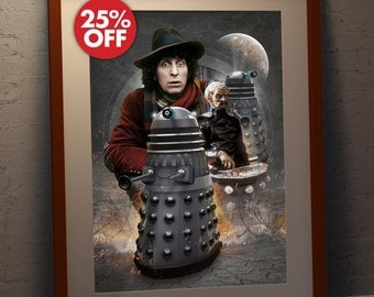 Doctor Who 'Tom Baker' The Fourth Doctor and Genesis of the Daleks  - A3 Poster