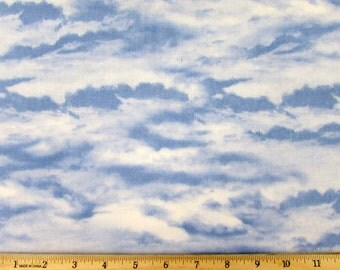 Sleigh Ride Clouds Fabric From Wilmington By the Yard