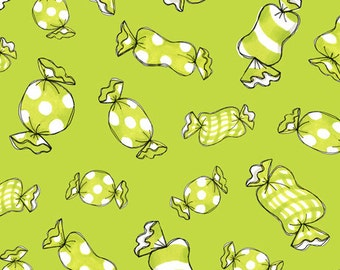 Sweetie Loralie Candy Lime Fabric From Quilting Treasures