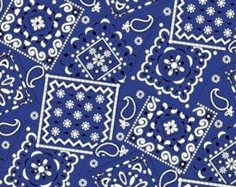 Per Yard, Bandana Navy Fabric